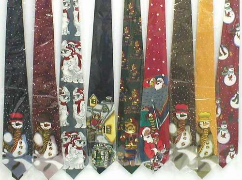 wear christmas neckties couple assortment